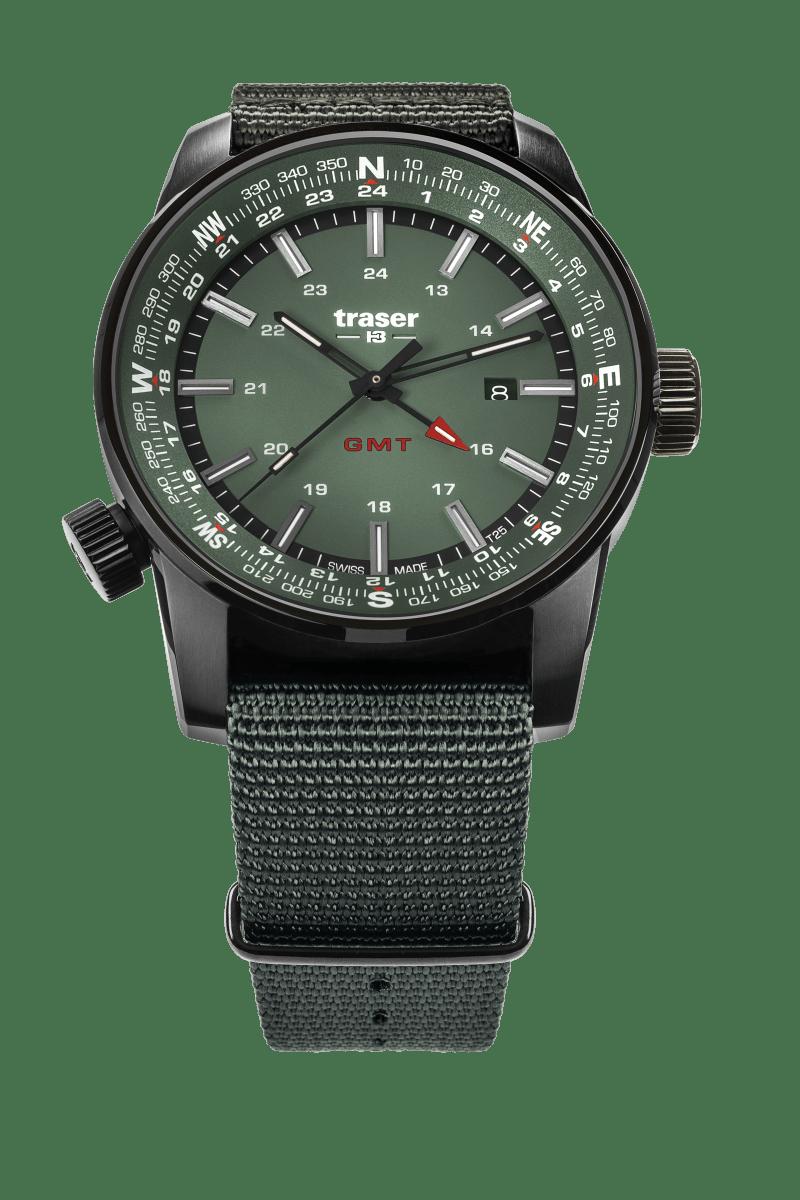 traser 109035 P68 Pathfinder GMT Green karóra