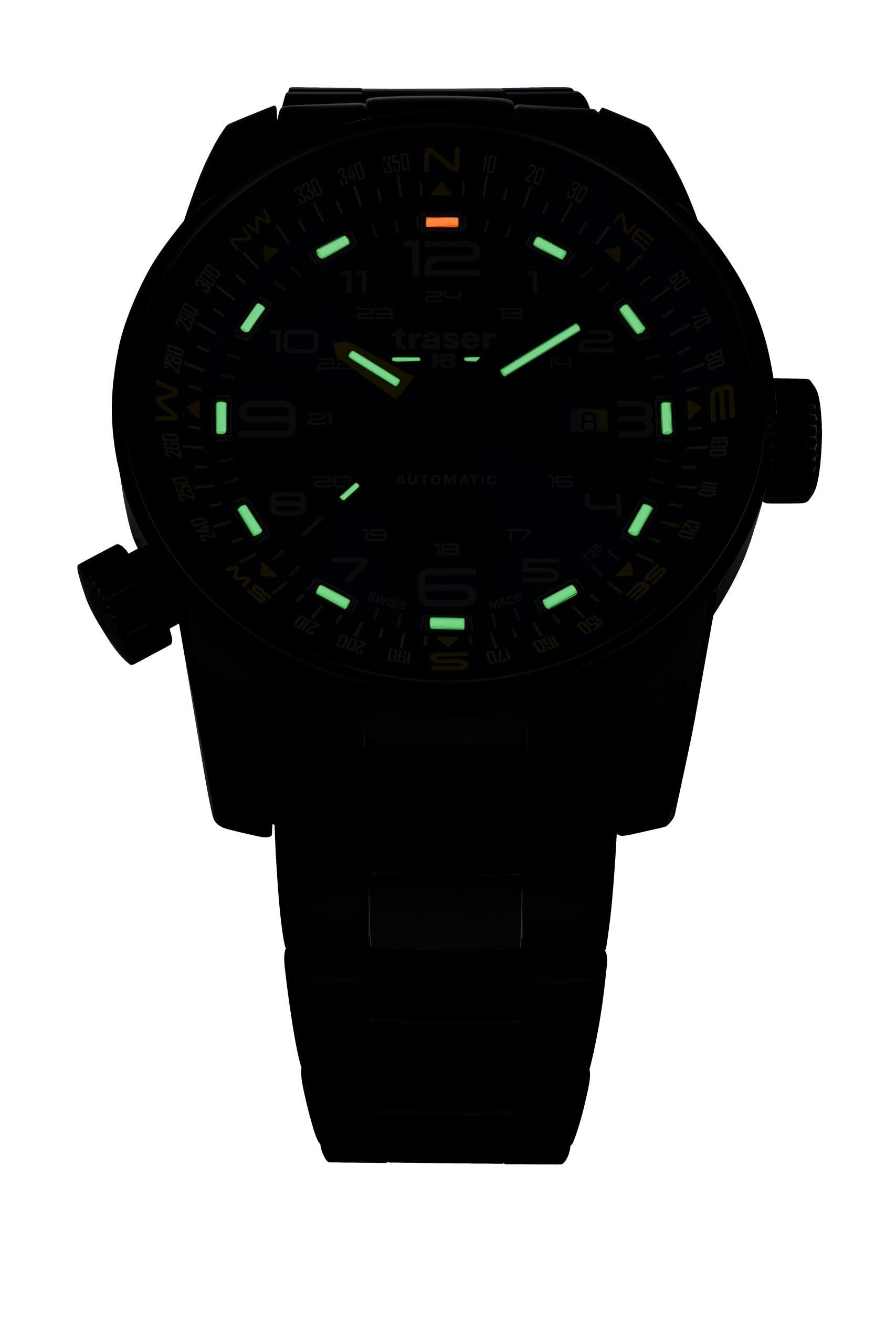 traser 109522 P68 Pathfinder Automatic Black karóra