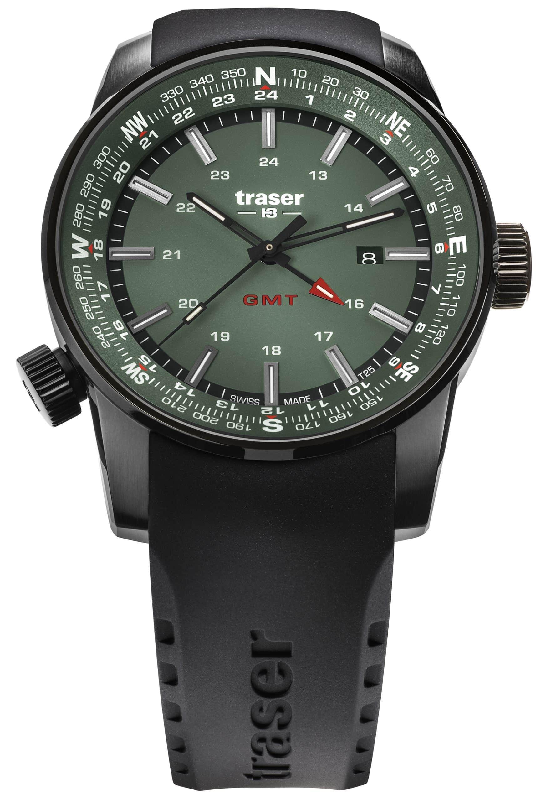 traser 109744 P68 Pathfinder GMT Green karóra