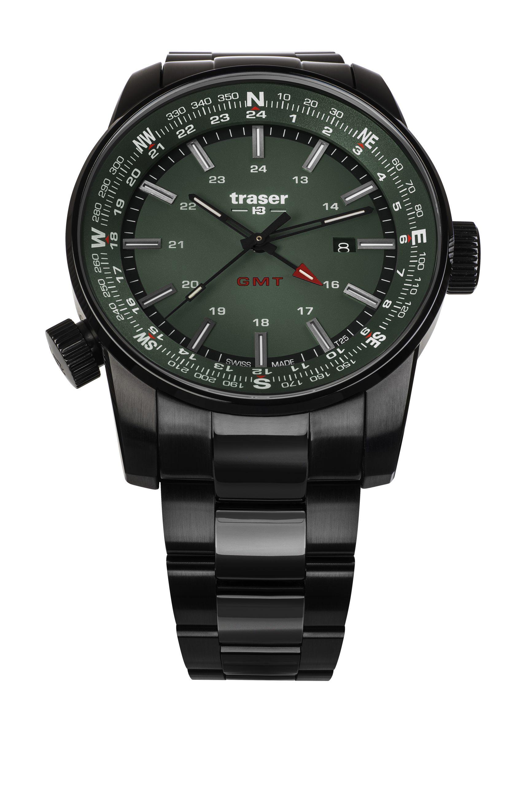 traser 109525 P68 Pathfinder GMT Green karóra