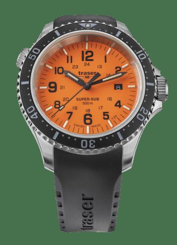 traser 109380 P67 SuperSub Orange Kvarc karóra
