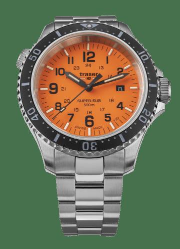 traser 109381 SuperSub Orange karóra